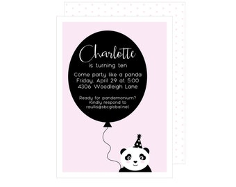 Panda Invitation : By Bloom Designs