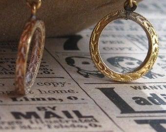 Vintage NOS 14k Gold Filled Earrings Lot of 3: Drop Dangle & Stud / Original Box Tag Butterfly Backs