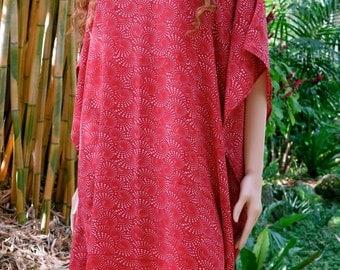 Red Kaftan, Caftan, Cover up, Summer Dress