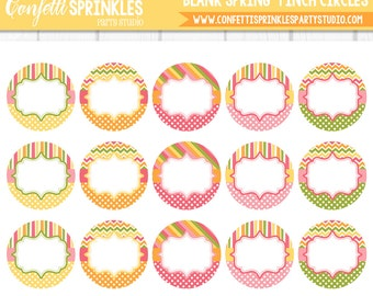 "INSTANT DOWNLOAD Editable ""Blank Spring"" 4x6"" 1"" Inch Bottle Cap Image/Digital Collage Sheet"