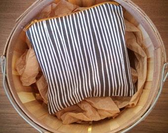 Reusable Snack Bag, food safe nylon, zipper, stripes