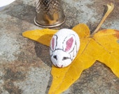 Rabbit, painted rock, fairy garden miniatures, fairy garden accessories, dolls & miniatures earthspalette