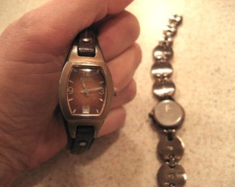 Vintage Fossil ladies watches.  Lot.
