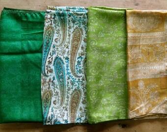 Fat Quarters, Silk Fabric, Sari Silk FQ135