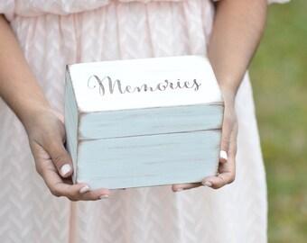 Memory box, recipe box, home decor, shower gift, advice box - custom your color!