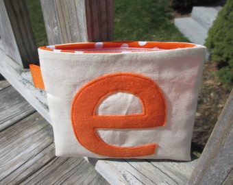 Reusable Snack Bag with Velcro Closure: Customized Initial