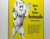 Art Book, Drawing Book, How To Draw Animals, Jack Hamm, Over 1000 Illustrations, Step by Step Guide, Sketching Techniques