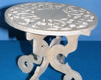 Custom cutout unfinished table for Barbie, Monster High, and othe fashion dolls