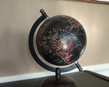 Black and Brown 8 1/2 inch Globe and Pins