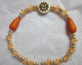 CLEARANCE Sunshine Seed Bead Stretch Bracelet
