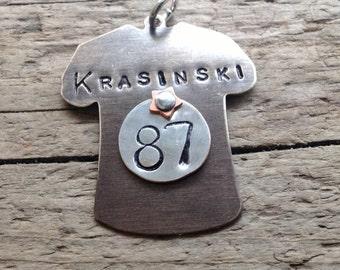 JERSEY ADD-ON Custom Sports Necklace Football Baseball Hockey Basketball Sports Mom Jewelry