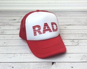 Rad Hat, Trucker Hat for Kids, Foam Mesh Hat, Rad Youth Hat, Funny Hats, Youth Hat, Childrens Hats, kids trucker hat,