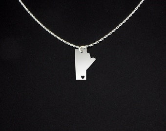 Manitoba Necklace - Manitoba Jewelry - Manitoba Gift