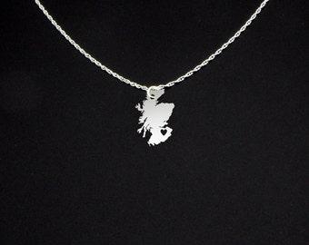 Scotland Necklace - Country Necklace - Scotland Jewelry - Scotland Gift