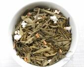 Genmaicha Tea / 100% Organic Loose Leaf Tea Blend / Green Tea / Popcorn Tea /  Hand Blended  / No Flavors Added