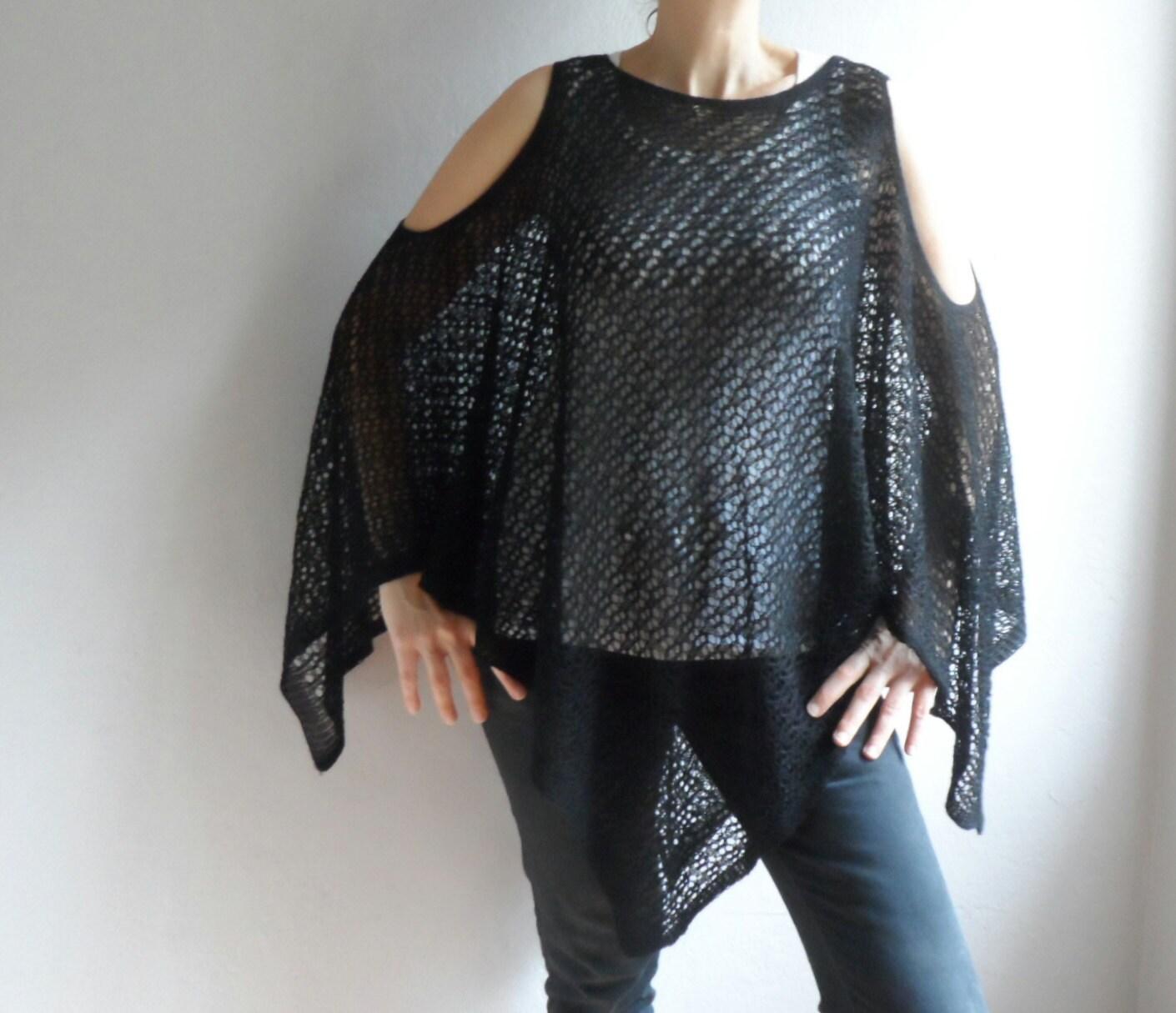Knitting Summer Tunic : Women vest knit tunic summer blouse black