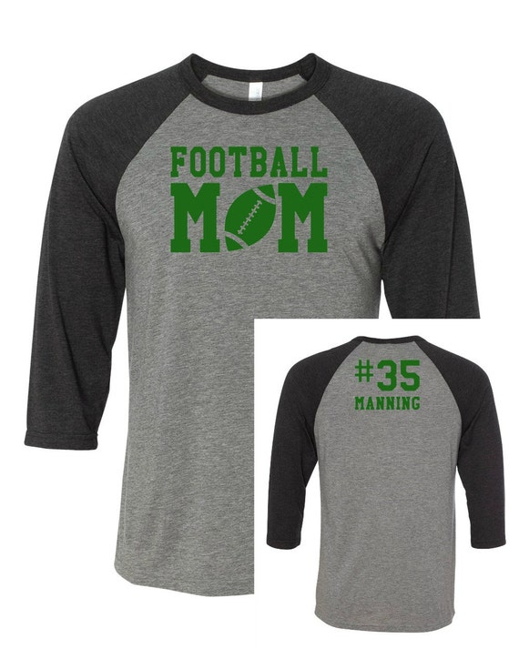 Football mom football mom baseball tee jersey and name for Personalized football t shirts