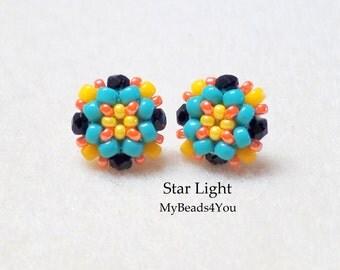 Beaded Earrings,Beadwork Earrings, Seed Bead Earrings, Stud Earrings, Beaded Post Earrings, Beadwork Earrings, Jewelry Gift, MyBeads4You
