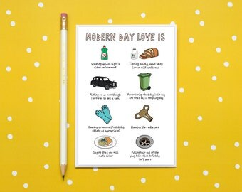 Modern day love is... Card - Funny Valentines Day card - Engagement card - Wedding Day card - Funny Parents Anniversary Card