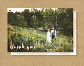 Customized Wedding Thank You Card -  WATERCOLOR SCRIPT