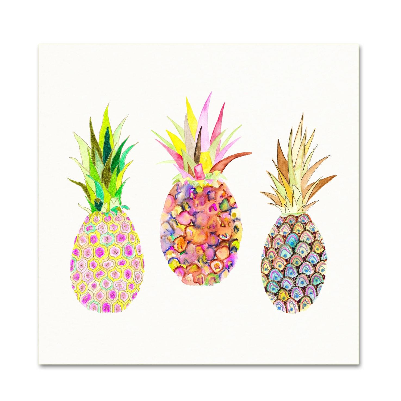 watercolor pineapple illustration watercolor pink pineapples