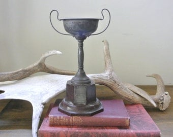 Vintage Silver Plated & Bakelite Trophy Cup from Australia Room Decor 1930's Swimming