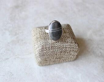 Jasper Ring, OOAK Ring, Ring Size 7.5 US