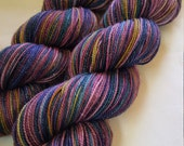 Saturated SPARKLE Sock Selfstriping  4 color Jewels
