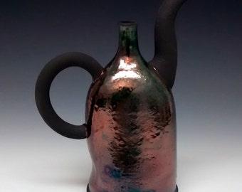 Raku Pottery - Copper - Handmade Teapot