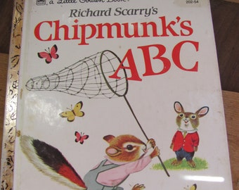 "Vintage Little Golden Books ""Chipmunk's ABC"""