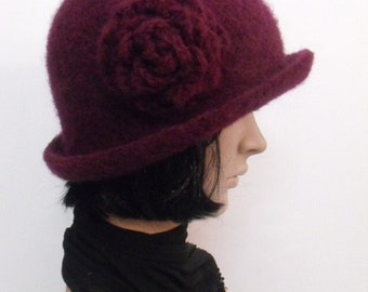 Handfelted Wool Cloche