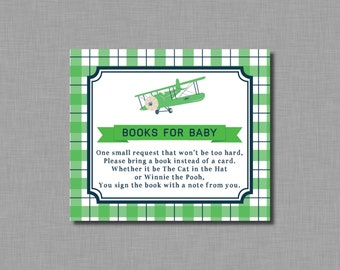Airplane Bring a book instead of a card BE23 Printable - Instant Download