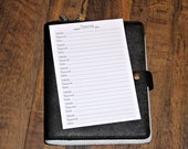 PRINTED - A5 Planner Inserts - Password Keeper - 10 inserts (printed front & back)