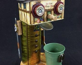 "Found Object Robot Sculpture - Tip Jar/Pencil Holder ""Lewis Lockhart"""