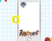 Snapchat GeoFilters, Birthday Snapchat Filters, Party Snapchat, Paw Patrol Snapchat GeoFilter, Paw Patrol Birthday Party, Paw Patrol Filter