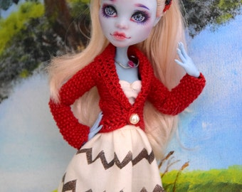 Monster High Clothes | Monster High Chevron Hand Painted White Skirt |Doll Clothes | Doll Skirt  | White Skirt | MH Clothes | Chevron Skirt