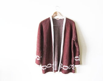 70s cardigan / womens vintage cardigan sweater / bohemian clothing / kimono cardigan