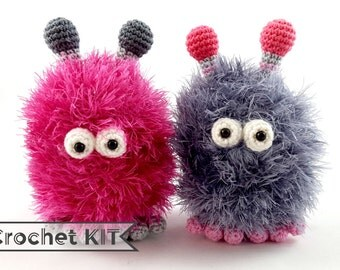 Crochet kit Mini Hairy Harry - Amigurumi toy - DIY kit