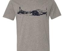 Mens Vintage US NAVY plane military crew neck Tshirt Tee Shirt Short sleeve s, m, l, xl Alternative Apparel