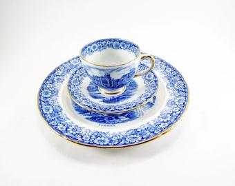 Vintage Teacup Set, Hudson & Middleton, Sutherland China, Made in England, Teacup and Dessert Plate Set, Historical Britain Porcelain, 1950s