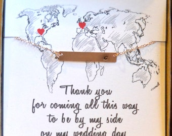 long distance bridesmaid, bridesmaid gift