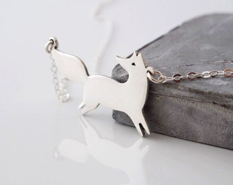 Fox Necklace - Silver Animal Necklace - Nature Lover Gift - Fox Necklace Silver - Fox Jewelry - Nature Jewelry - Nature Necklace