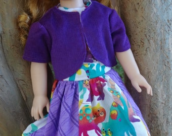 """14.5"""" Doll Clothes Colorful Patchwork Skirt Set Fits American Girl Wellie Wishers Willa, Camille, Emerson, Kendall, Ashlyn"""