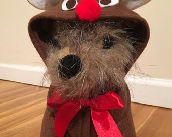 Rudolf the red nosed reindeer costume by FiercePetFashion