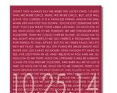 MICHAEL BUBLE LYRICS, Hold On song Lyrics on Canvas, Wedding Gift, Anniversary, Personalized Word Art