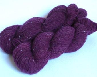 Carina Nebula Plum Tweed DK Wool Yarn 50g