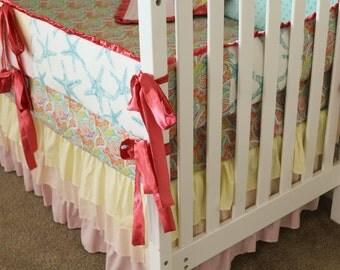 Custom Bohemian Beach Crib Set