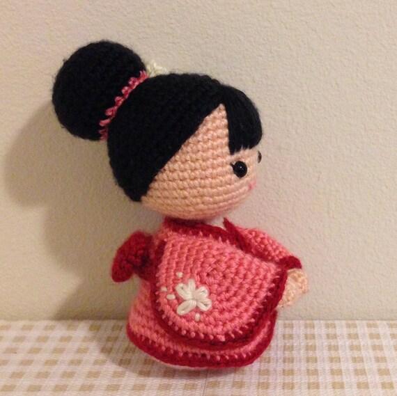 Amigurumi Crochet Doll Pattern Japanese Kimono Doll