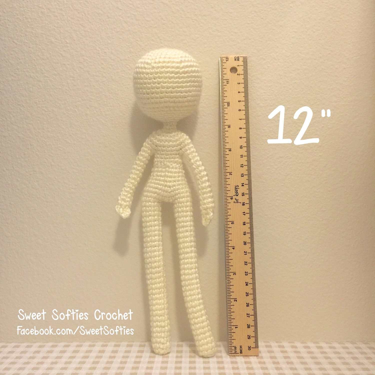 Crochet Amigurumi Doll Body : 12 Slender Doll Base Amigurumi Crochet Pattern for by Sylemn