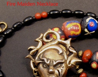 Bronze Fire Maiden Necklace
